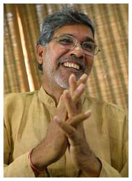Kailash Satyarthi, an Indian children's rights campaigner