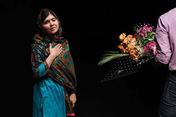 Malala Yousafzai, 17, said she was honored to be the youngest person to receive the award. She dedicated it to the - voiceless