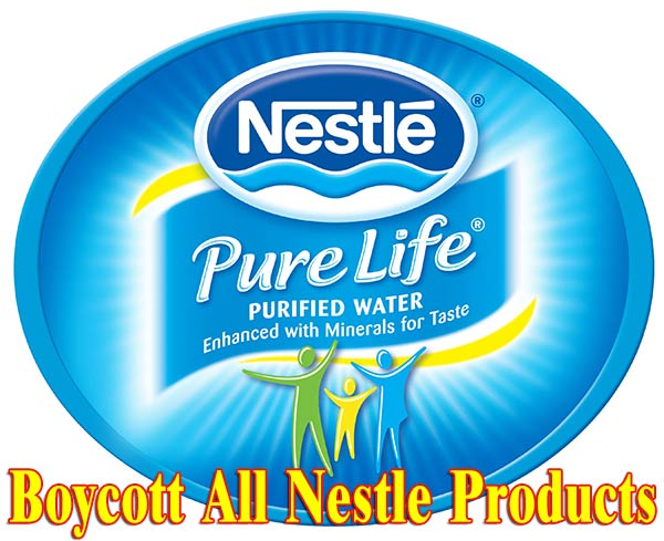 boycott all nestle products - fluoride in bottled water
