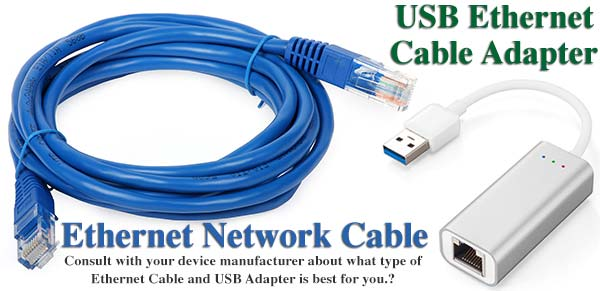 Ethernet Network Cable USB Adapter