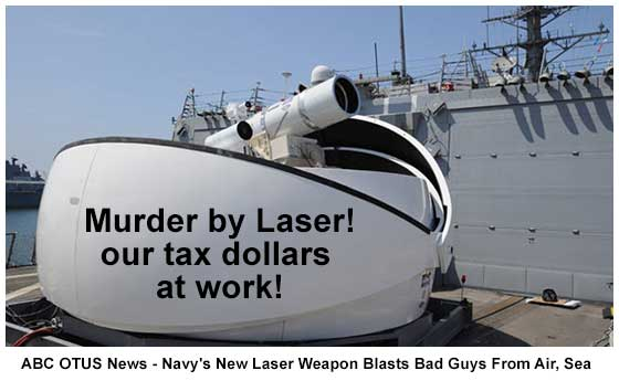U.S. Navy's New Laser Weapon Blasts Good or Bad Guys From Air, Sea